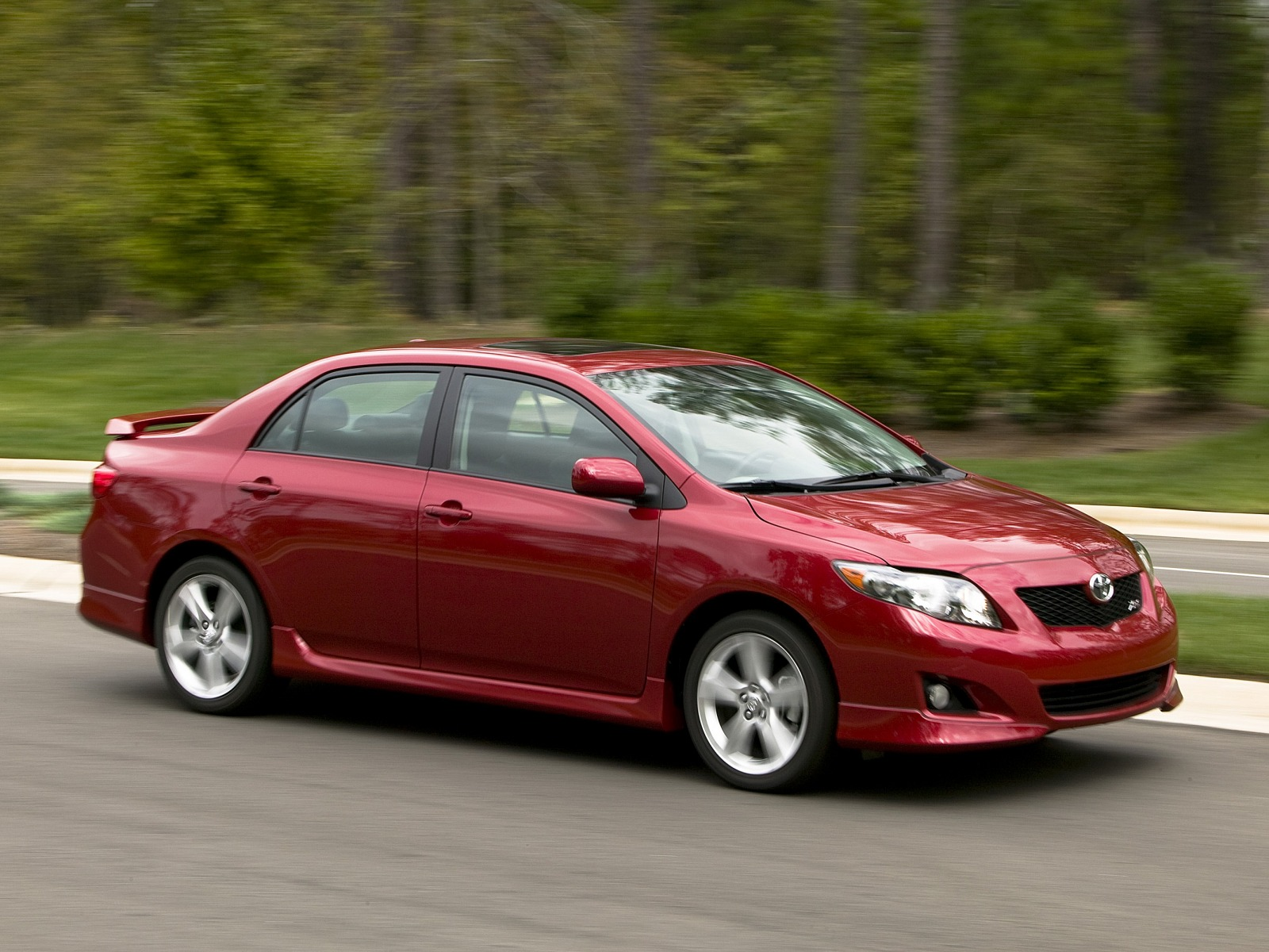 corolla toyota xrs 2009 front three sport sedan motor specifications technical